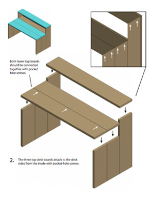 DIY Two-Level Desk Plans