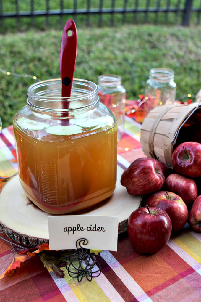 Fall Party Apple Cider Station