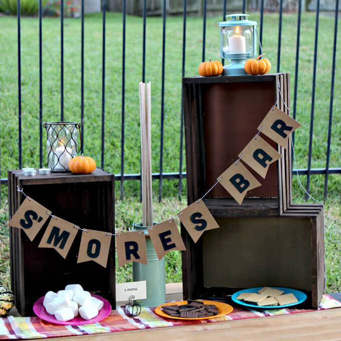 Fall Party S'mores Bar