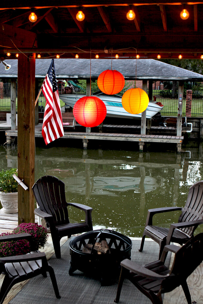Throwing a Fall Party on a Boat Dock