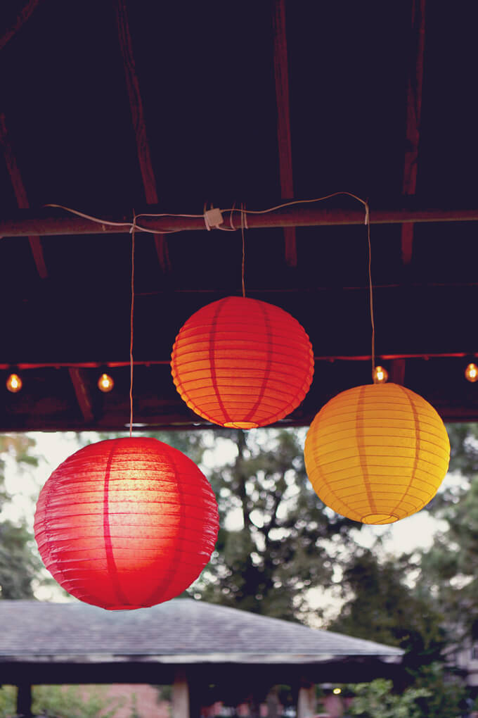 Fall Party - String Lights and Paper Lanterns