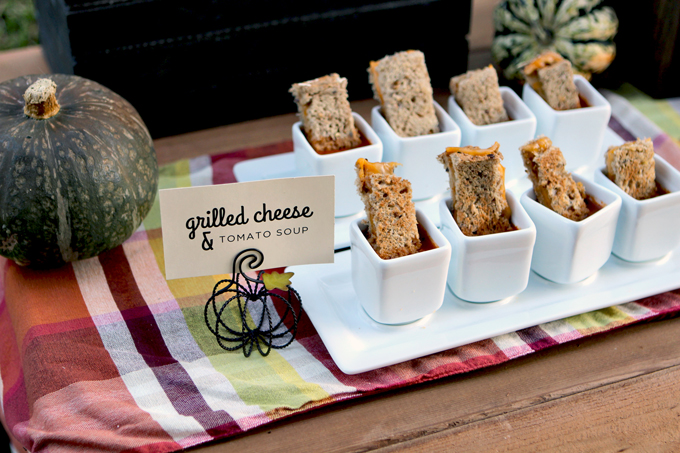 Fall Party Grilled Cheese