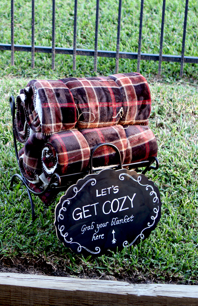 Fall Party Let's Get Cozy Blankets