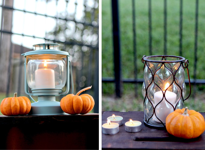 Fall Party Details - Lanterns & pumpkins