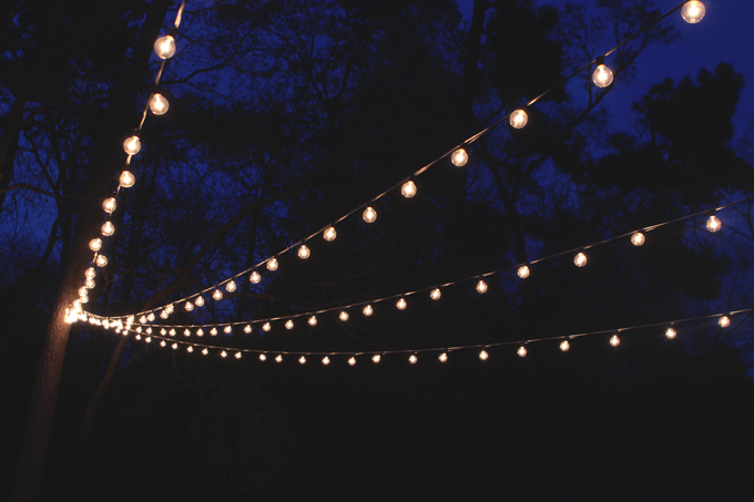 A Canopy of String Lights in our Backyard | Gray House Studio