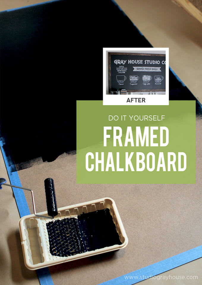 DIY Framed Chalkboard | Gray House Studio