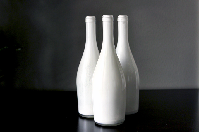 Paint Wine Bottles for vases