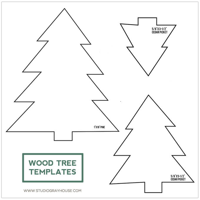 download free diy wood trees templates