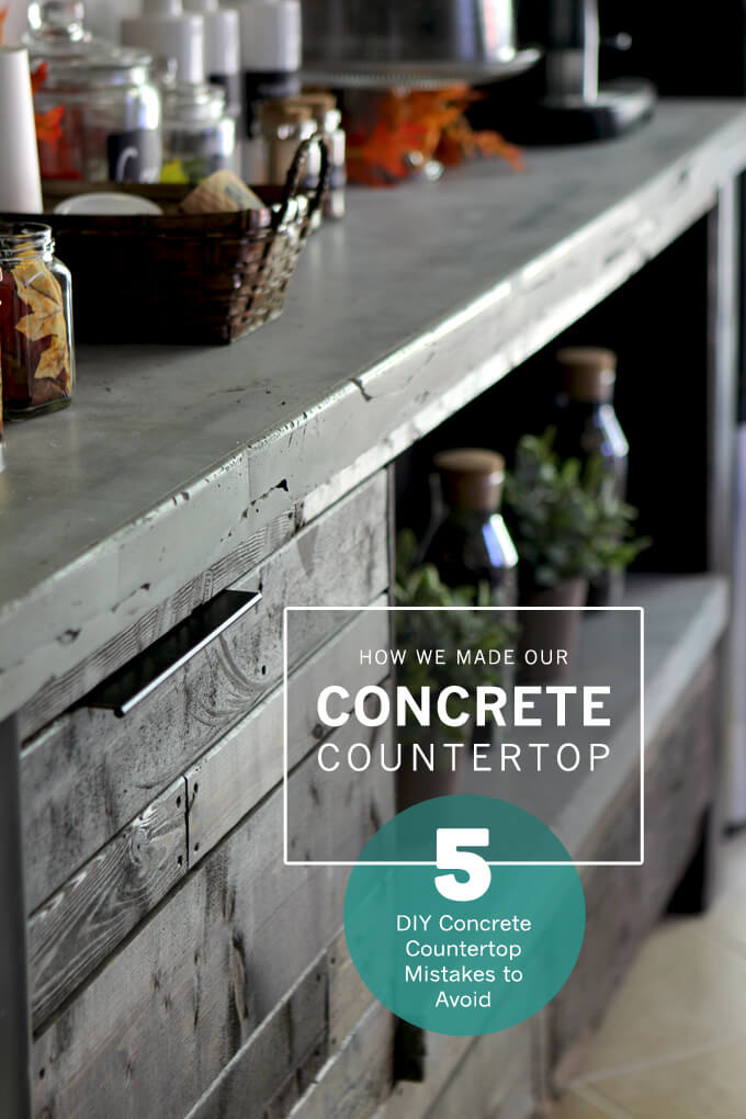 Diy Concrete Countertop Gray House Studio