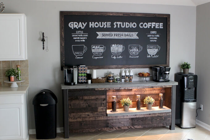 We Are Very Excited To Share Our Latest Project Because Worked So Incredibly Hard On It And Proud Of How Turned Out B S Diy Coffee Bar
