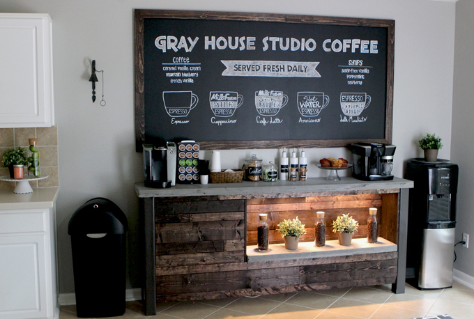 Excellent DIY Coffee Bar | Gray House Studio YT83