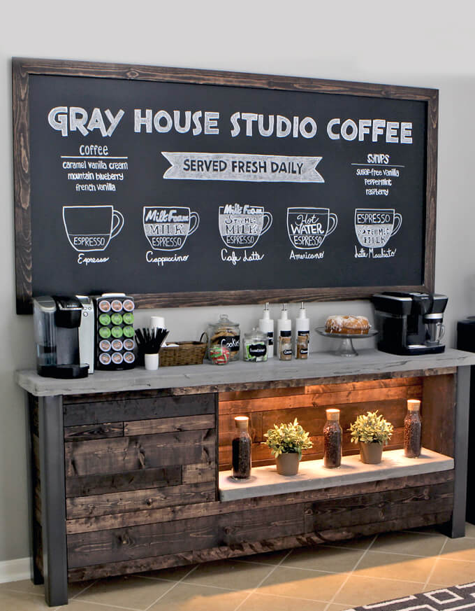 diy bar. DIY Coffee Bar  Gray House Studio