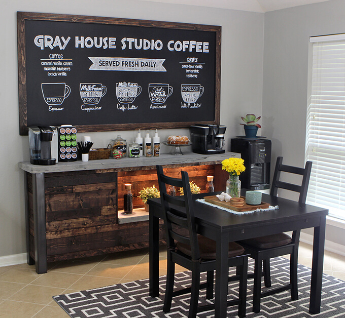 Beautiful DIY Coffee Bar | Gray House Studio GB65