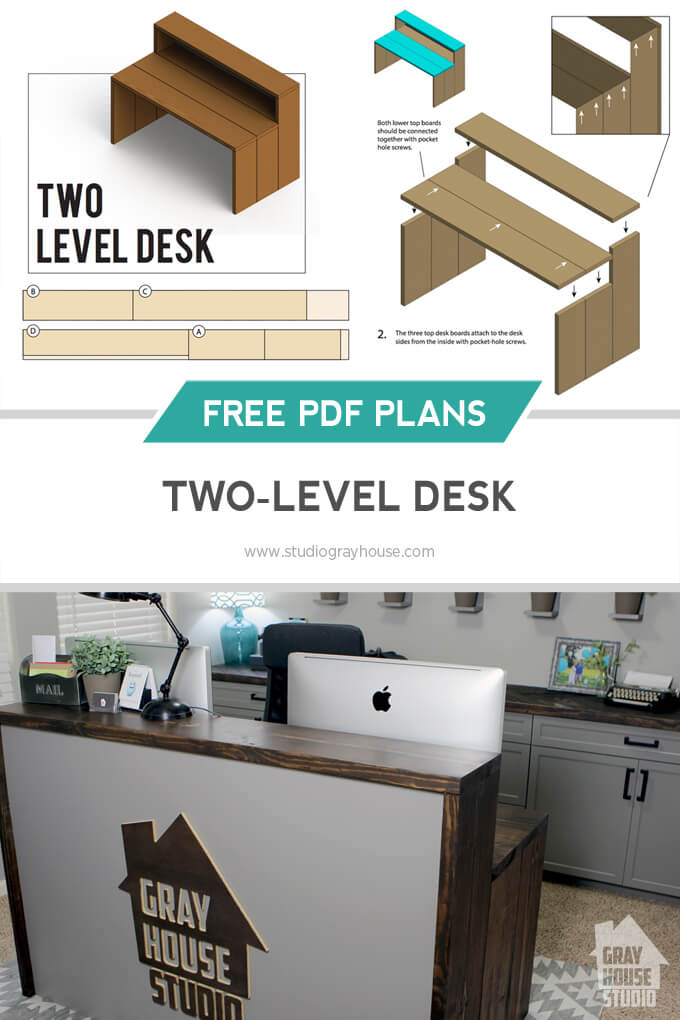 Beau Two Level Desk DIY
