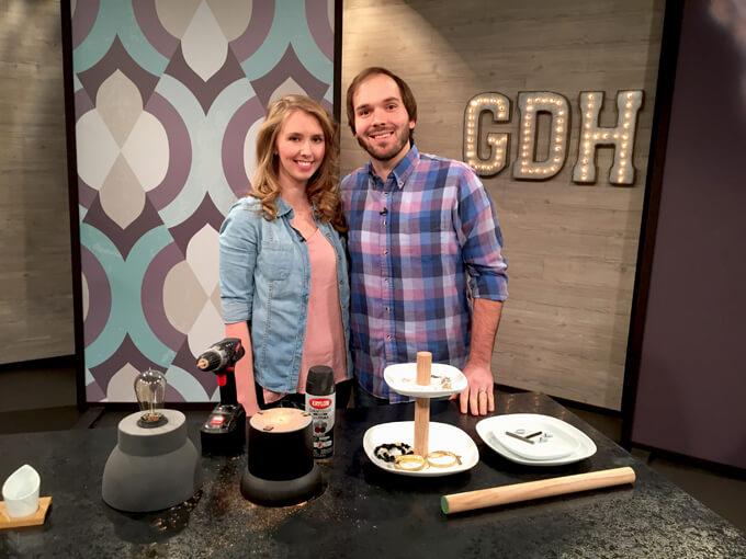 Brent and Courtney Richardson of Gray House Studio on Great day Houston