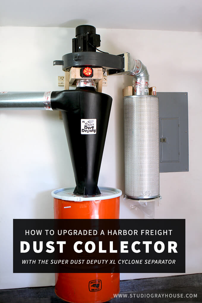 How to upgrade a Harbor Freight Dust Collector with the Super Dust Deputy XL from Oneida Air Systems.