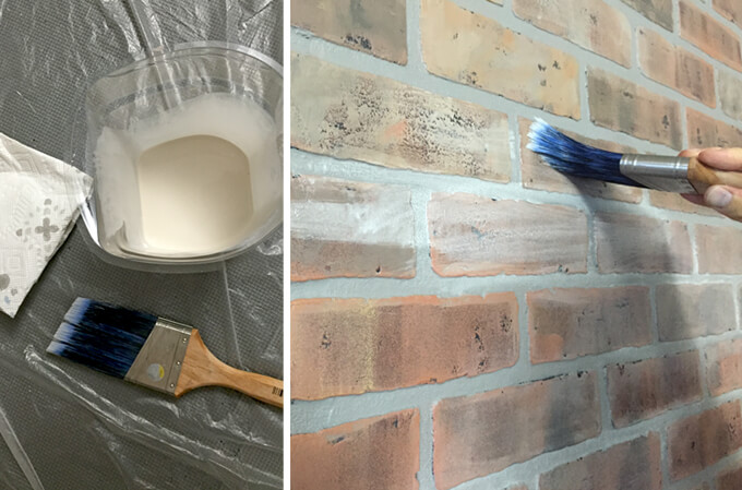 Painting a Faux Brick Accent Wall