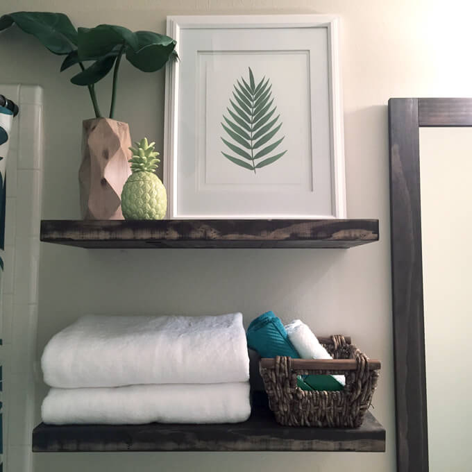 Attirant Floating Shelves In Bathroom Gray House Studio