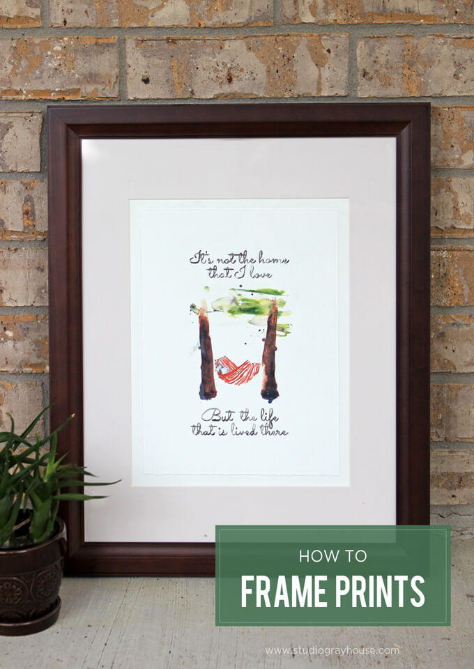 Framing Prints (Plus, a free artwork download) | Gray House Studio
