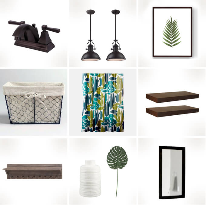 Planning our Guest Bathroom Moodboard Gray House Studio