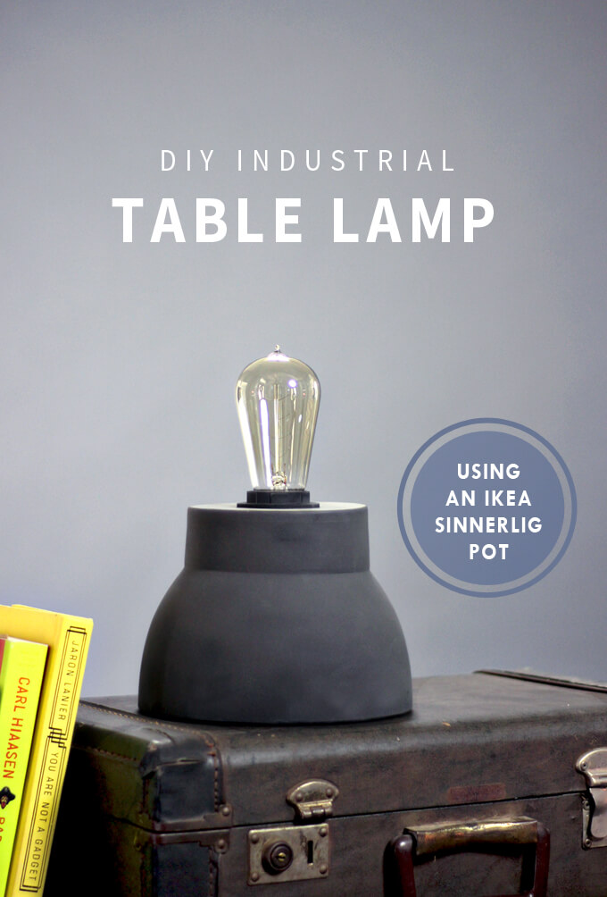 Diy Industrial Table Lamp Gray House Studio