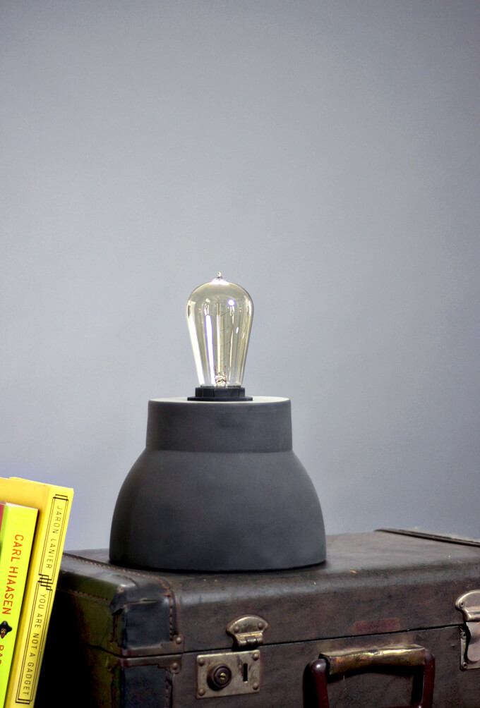 DIY Industrial Table Lamp