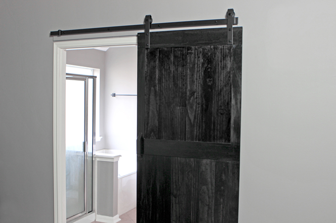 how to install a barn door gray house studio. Black Bedroom Furniture Sets. Home Design Ideas