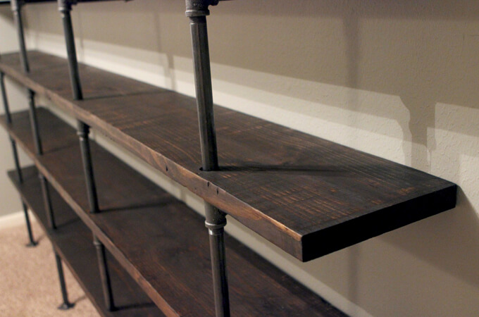 Gray House Studio DIY Industrial Shelves