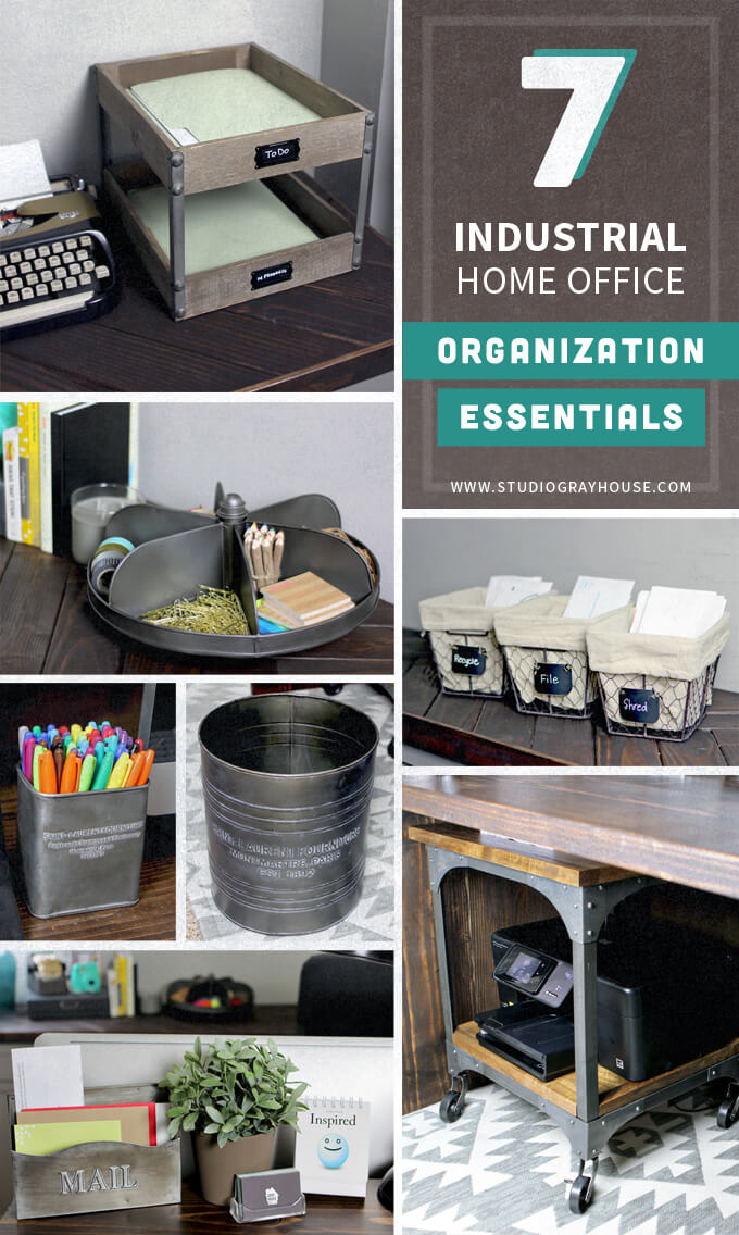 Industrial Home Office Organization