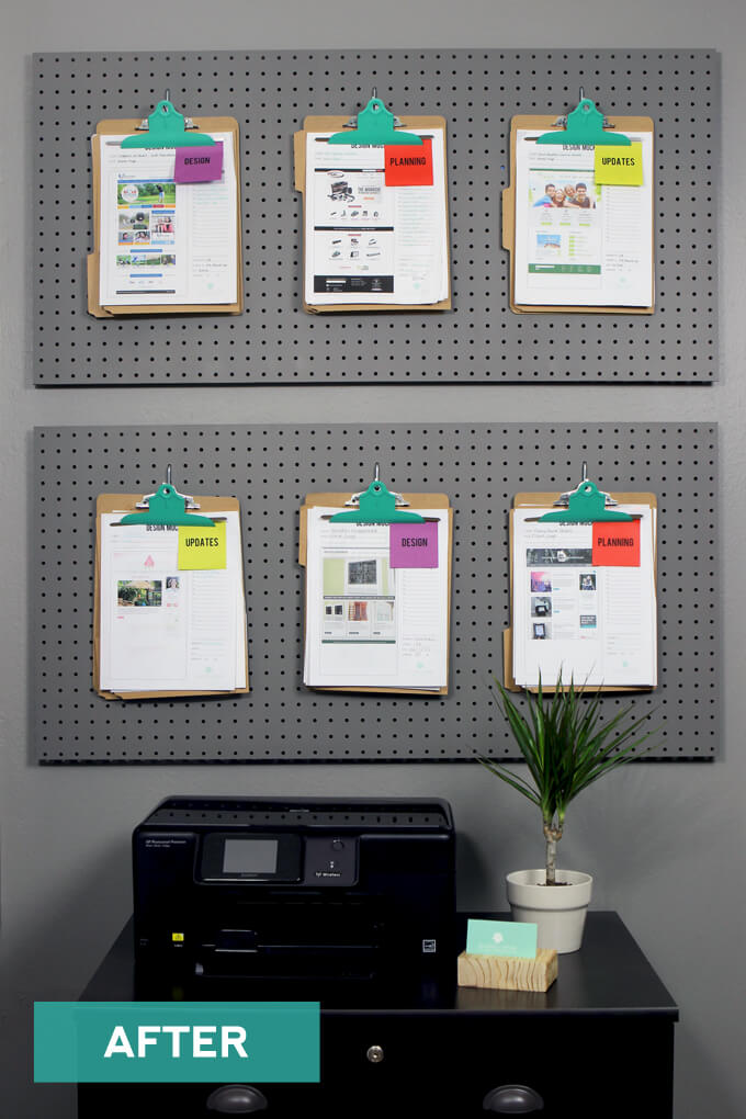 Office Pegboard Organization