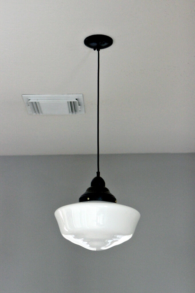 Schoolhouse pendant light solution gray house studio schoolhouse pendant light aloadofball