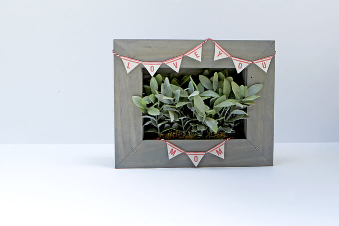 DIY Picture Frame Planter Box | Gray House Studio