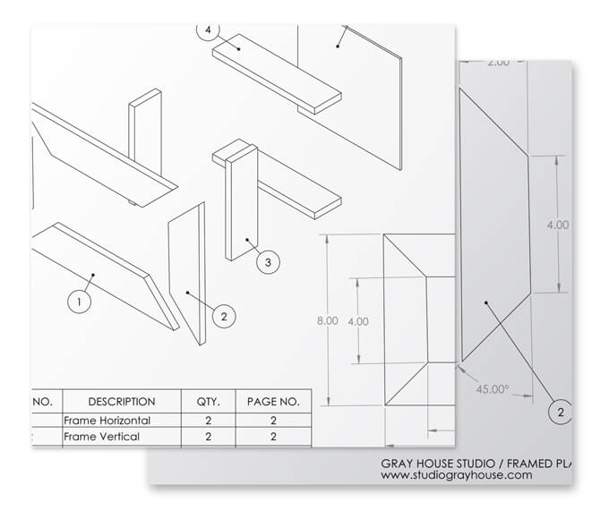 Gray House Studio Picture Frame Planter Box Plans