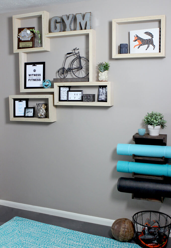 Plywood Shelves with an Exposed Edge