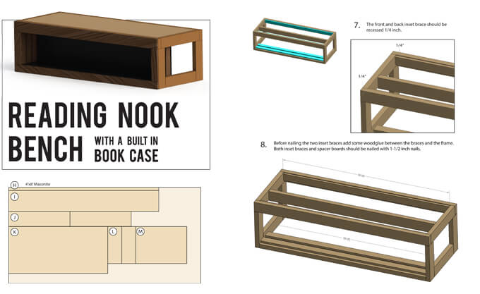 Plans for reading nook bench gray house studio How do you read blueprints