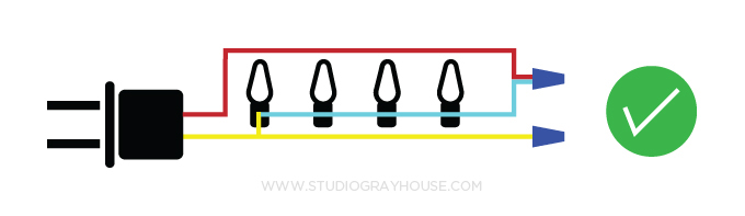 How to Shorten String Christmas Lights | Gray House Studio