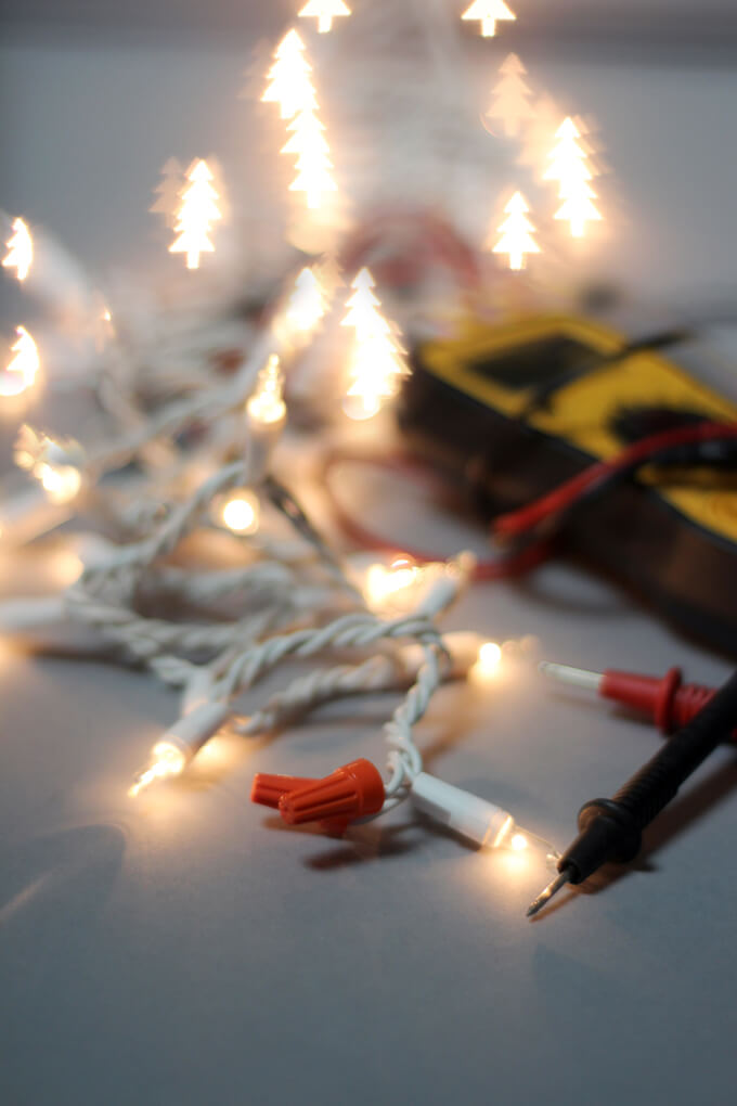 Shorten String Christmas Lights : How to Shorten String Christmas Lights Gray House Studio
