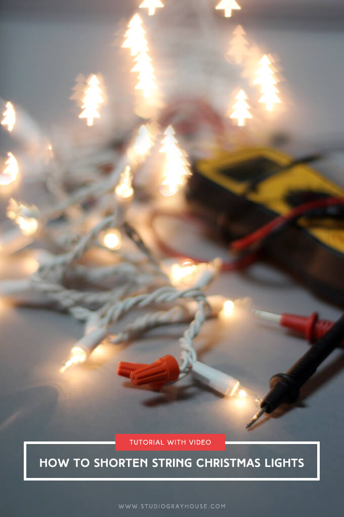 Wiring Schematic Of Christmas Lights : How to shorten string christmas lights gray house studio