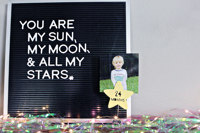 Space Themed 2nd Birthday Party Decor by Gray House Studio