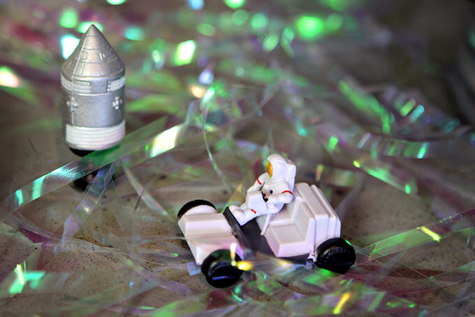 Space Themed 2nd Birthday Party Dessert Bar by Gray House Studio