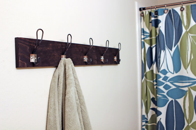 DIY Metal Hook Towel Rack Gray House Studio