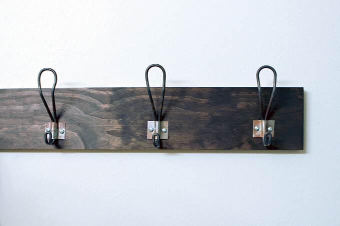 DIY Metal Hook Towel Rack