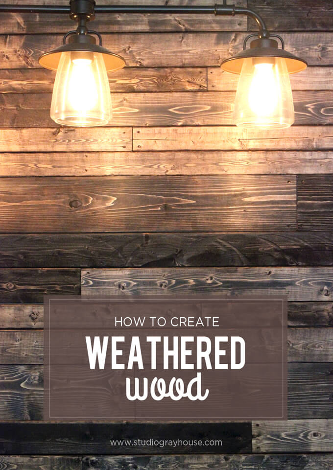 create weathered wood