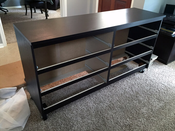 Diy work table malm dresser hack gray house studio - Commode chambre ikea ...