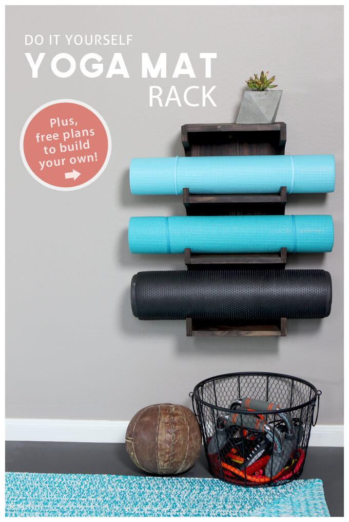 DIY Yoga Mat Rack