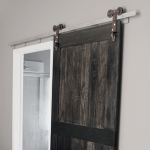 Wood Barn Door in Master Bedroom