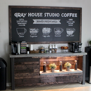 DIY Home Renovation Blog - DIY Coffee Bar