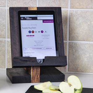 Custom Wood iPad Stand