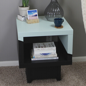 Tremendous Lack Side Table Ikea Hack Gray House Studio Home Interior And Landscaping Transignezvosmurscom