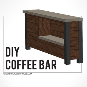 Free DIY Home Coffee Bar Plans